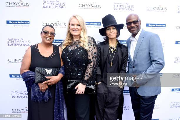 Honorees Suzette Donaldson Suzanne Todd Linda Perry and Antonio Donaldson attend the 18th annual Chrysalis Butterfly Ball on June 01 2019 in...