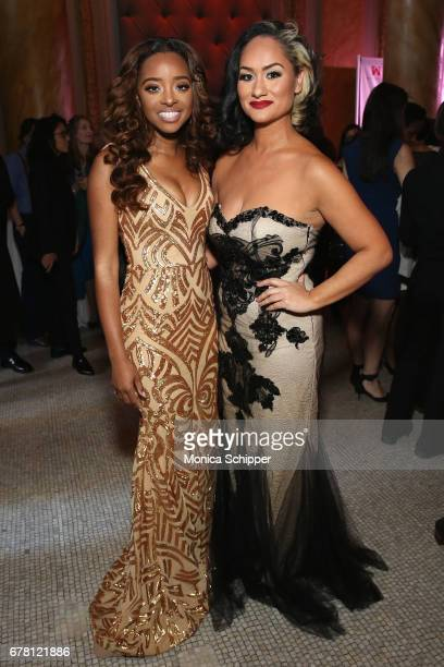 Honorees Tamika D Mallory and Carmen Perez attend the Ms Foundation for Women 2017 Gloria Awards Gala After Party at Capitale on May 3 2017 in New...
