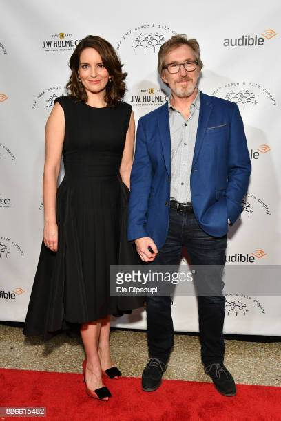 Honorees Tina Fey and Don Katz attend the 2017 New York Stage Film Winter Gala at Pier Sixty at Chelsea Piers on December 5 2017 in New York City
