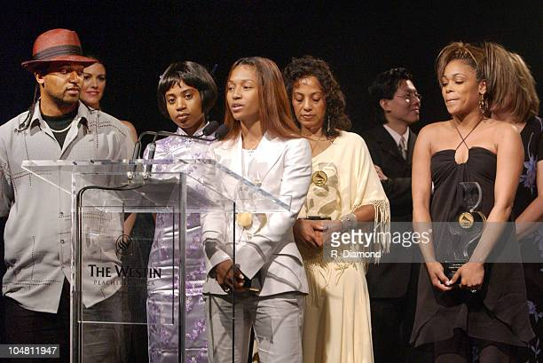 Honorees TLC Chilli TBoz and The Family of Lisa Left Eye Lopes Brother Ron Sister Raina and Mother Wanda LopesColeman