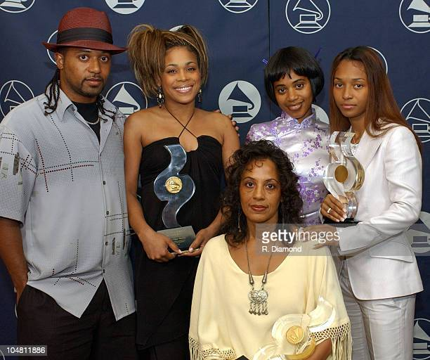 Honorees TLC Chilli TBoz with The Family of Lisa Left Eye Lopes Brother Ron Sister Raina and Mother Wanda LopesColeman