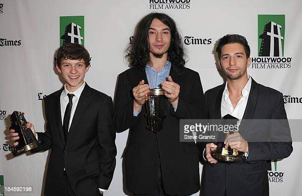 Honorees Tom Holland Ezra Miller and John Magaro attend the 16th Annual Hollywood Film Awards Gala presented by The Los Angeles Times held at The...