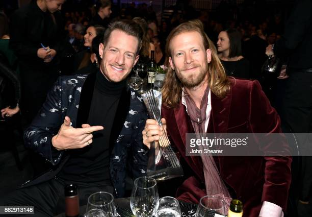 Honorees Tyler Hubbard and Brian Kelley of Florida Georgia Line during the 2017 CMT Artists Of The Year on October 18 2017 in Nashville Tennessee
