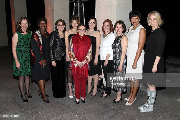 Honorees Va. First Lady Dorothy McAuliffe, Gwen Ifills, Sen. Amy Klobuchar, Justice Ruth Bader Ginsberg, Rep. Elise Stefanik, Jen Psaki, Cecilia...