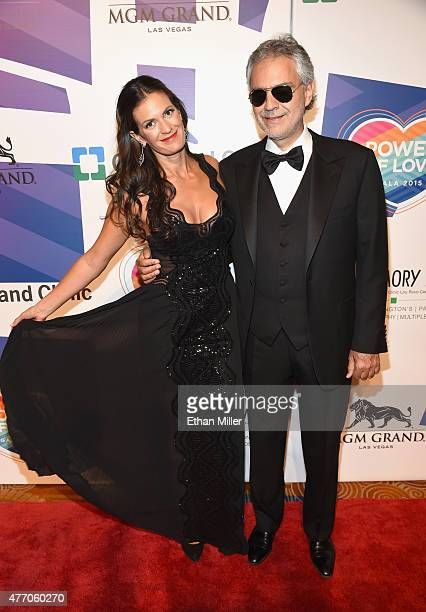 "Honorees Veronica Bocelli and Andrea Bocelli attend the 19th annual Keep Memory Alive ""Power of Love Gala"" benefit for the Cleveland Clinic Lou Ruvo..."