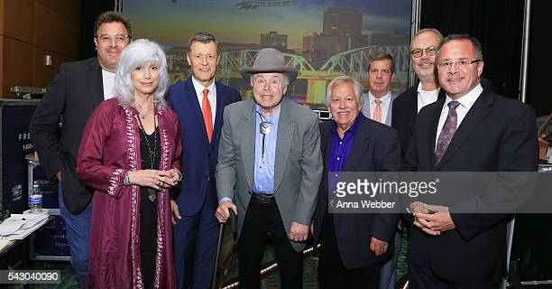Honorees Vince Gill EmmyLou Harris Bill Cody Roy Clark John Conlee Mayor Karl Dean UMG Nashville Chairman/CEO Mike Dungan and Vice President/General...