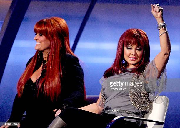 Honorees Wynonna Judd and Naomi Judd onstage during ACM Presents Girls' Night Out Superstar Women of Country concert held at the MGM Grand Garden...
