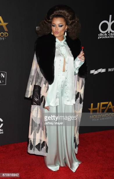 Honoree/Singer Andra Day attends the 21st Annual Hollywood Film Awards at The Beverly Hilton Hotel on November 5, 2017 in Beverly Hills, California.