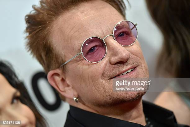 Honoree/singer Bono arrives at Glamour Women of the Year 2016 at NeueHouse Hollywood on November 14 2016 in Los Angeles California