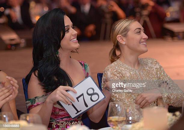 Honoree/singer Katy Perry and DJ Mia Moretti attend the Dream Foundation Celebration of Dreams at Bacara Resport And Spa on November 16 2012 in Santa...