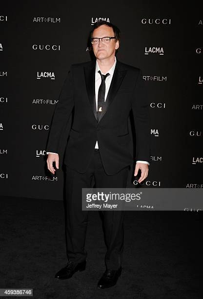 Honoree/writer/director Quentin Tarantino attends the 2014 LACMA Art Film Gala honoring Barbara Kruger and Quentin Tarantino presented by Gucci at...