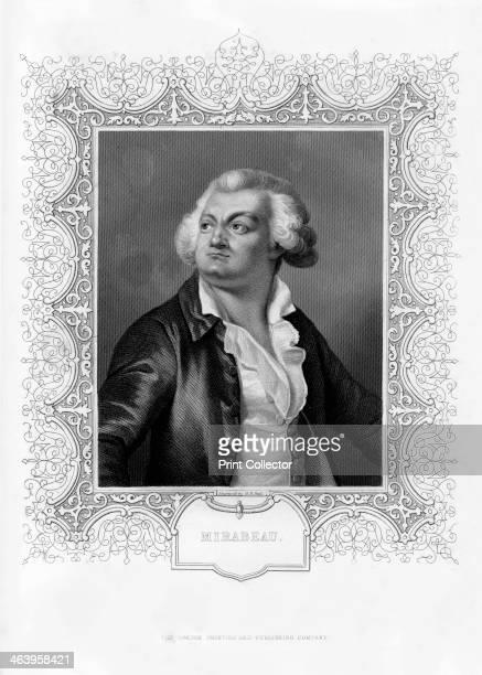 HonoreGabriel de Riquetti comte de Mirabeau French writer popular orator and statesman 19th century Portrait of Riquetti