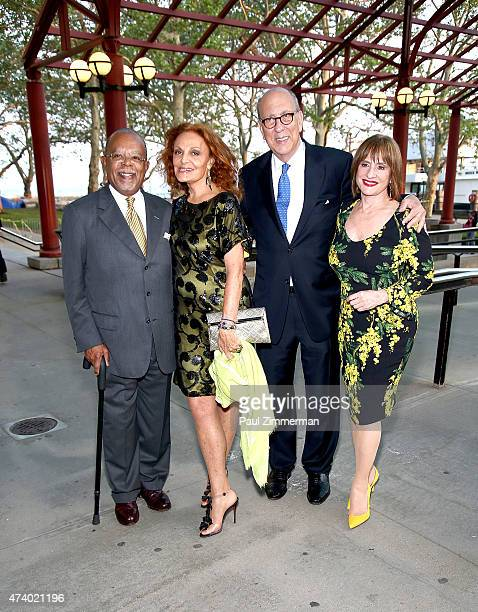 Honoress Henry Louis Gates Jr Diana von Furstenberg president and chief executive officer of the statue of Liberty Ellis Island Stephen Briganti and...