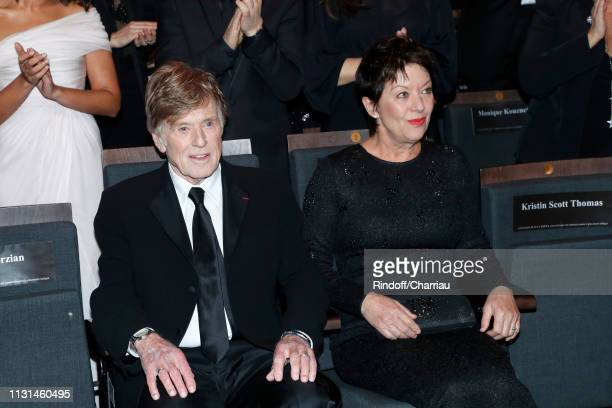 Honorific Cesar Robert Redford and Sibylle Szaggars attend the Cesar Film Awards 2019 at Salle Pleyel on February 22 2019 in Paris France