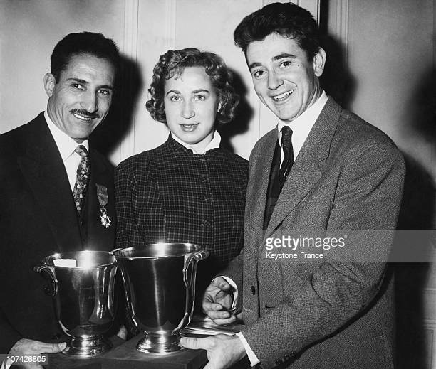 Honour To The French Olympic Champions At Paris In France On February 2Nd 1957
