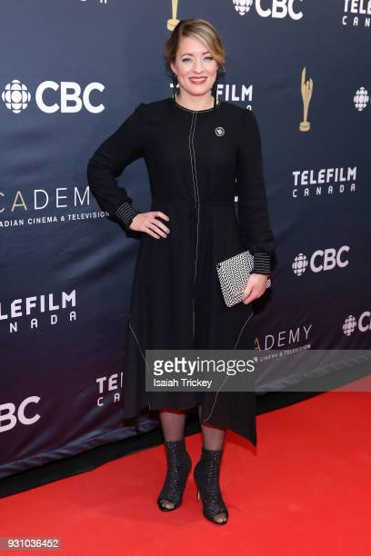 Honourable Melanie Joly arrives at the 2018 Canadian Screen Awards at the Sony Centre for the Performing Arts on March 11 2018 in Toronto Canada