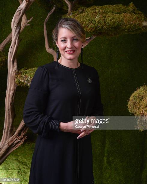 Honourable Melanie Joly poses in the 2018 Canadian Screen Awards Broadcast Gala Portrait Studio at Sony Centre for the Performing Arts on March 11...