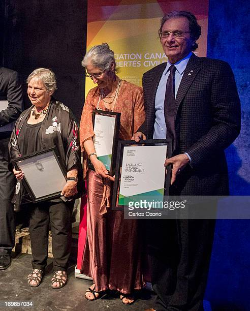 Honoured in the Public Engagement category are Nahlah Ayed Adrienne Clarkson Andrew Coyne Michele Landsberg Danielle McLaughlin and The Star''s...
