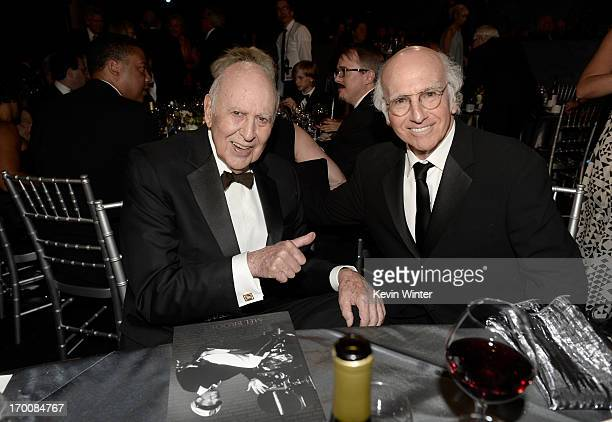 Honree Mel Brooks and writer/actor/producer Larry David attend the 41st AFI Life Achievement Award Honoring Mel Brooks at Dolby Theatre on June 6...