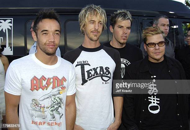 Hoobastank during 2004 MTV Video Music Awards Red Carpet at American Airlines Arena in Miami Florida United States