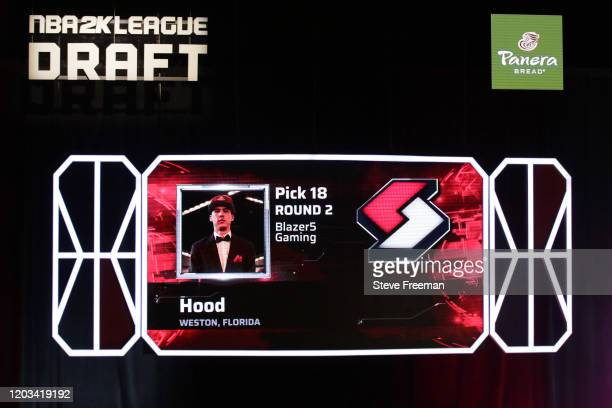 Hood gets picked during the NBA 2K League Draft on February 22 2020 at Terminal 5 in New York New York NOTE TO USER User expressly acknowledges and...