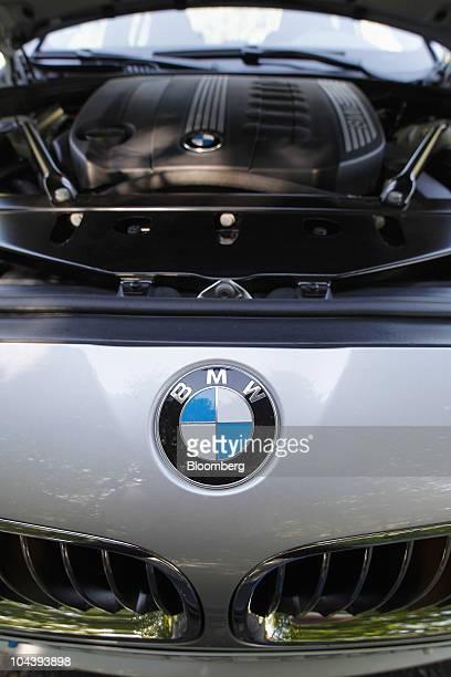 A hood ornament is seen on a Bayerische Motoren Werke AG 530d automobile near Walchsee Austria on Thursday Sept 2 2010 Bayerische Motoren Werke AG...