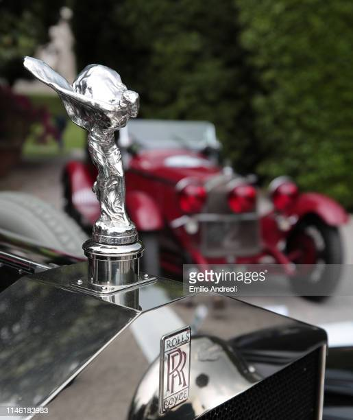 Hood ornament of a Rolls-Royce 40/50 H.P. Silver Ghost on display at the Concorso d'Eleganza Villa d'Este on May 25, 2019 in Como, Italy....