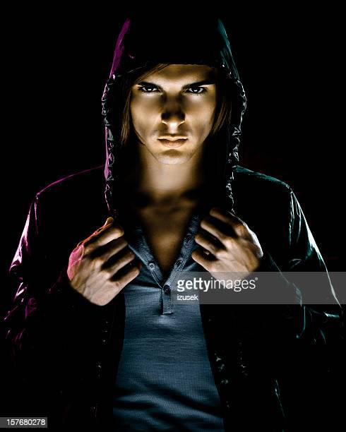 Hooded mysterious man