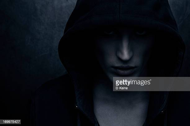 hooded person - hood clothing stock photos and pictures