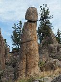Hoodoo Rock Formation Along The Needle Highway, South Dakota