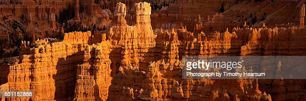 hoodoo rock formations in bryce canyon - timothy hearsum stock-fotos und bilder