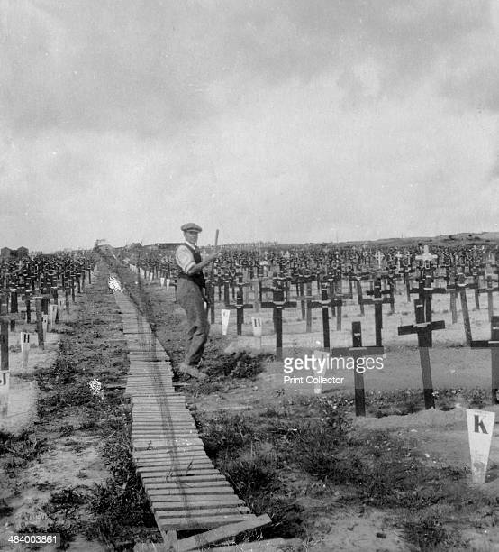 Hooge Crater Cemetery near Ypres Belgium World War I c1917c1918 Hooge is a village that was located within the Ypres salient during the First World...