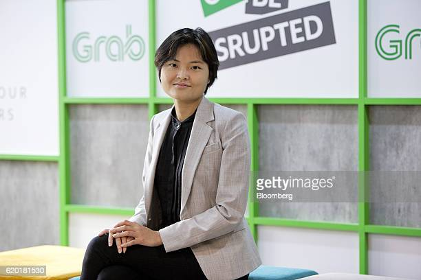 Hooi Ling Tan, co-founder of Grab, sits for a photograph in Singapore, on Wednesday, Oct. 19, 2016. Grab is riding a Southeast Asian ride-hailing...