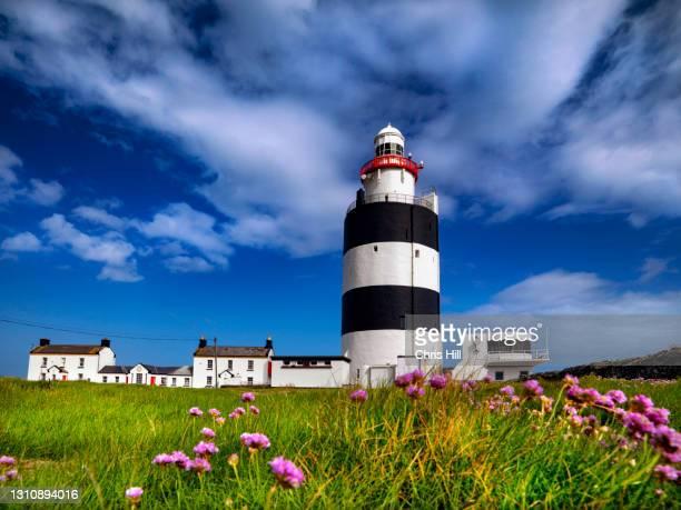 hook lighthouse, hook head, county wexford. ireland - ウェックスフォード州 ストックフォトと画像