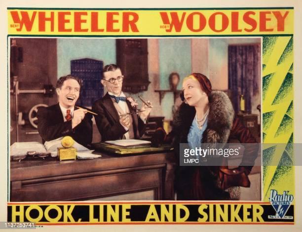 Hook lobbycard LINE AND SINKER from left Bert Wheeler Robert Woolsey Dorothy Lee 1930