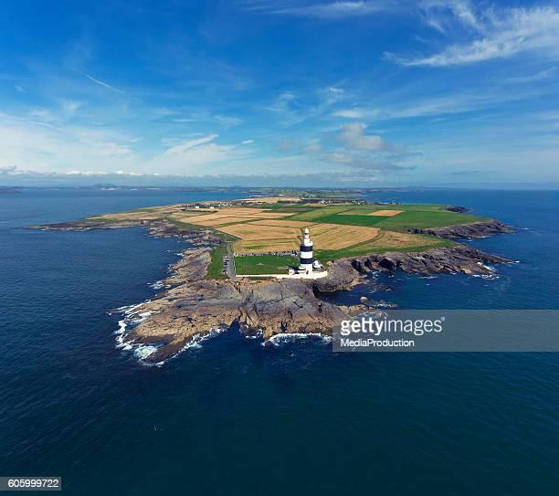 アイルランドのフック半島と灯台 - ウェックスフォード州 ストックフォトと画像