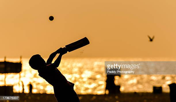 hook shot - beach cricket stock pictures, royalty-free photos & images