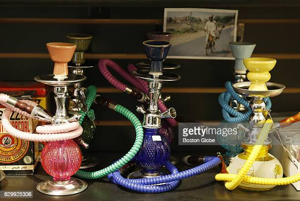Hookah's are seen for sale inside Buried Treasures in the Allston neighborhood of Boston on Dec 14 2016