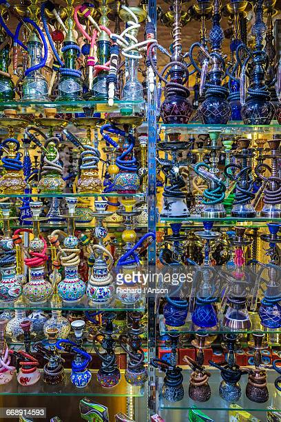 Hookahs displayed in the Grand Bazaar