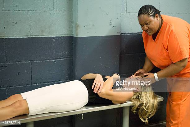 BENCHED Hooked Booked Episode 103 Pictured Eliza Coupe as Nina Jocelyn Ayanna as Inmate
