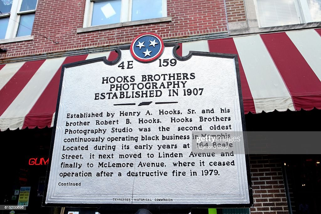 Hooks Brothers Photography Historical Marker In Memphis Tennessee On News Photo Getty Images