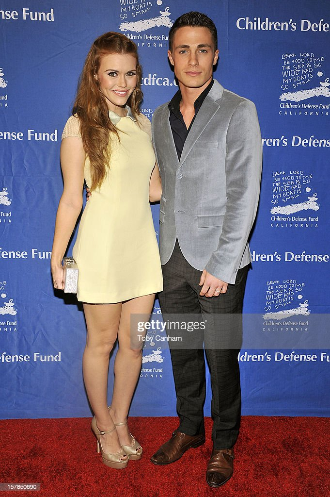 Hooland Roden and Colton Haynes arrive for the Children's Defense Fund-California 22nd Annual 'Beat the Odds' Awards at Beverly Hills Hotel on December 6, 2012 in Beverly Hills, California.