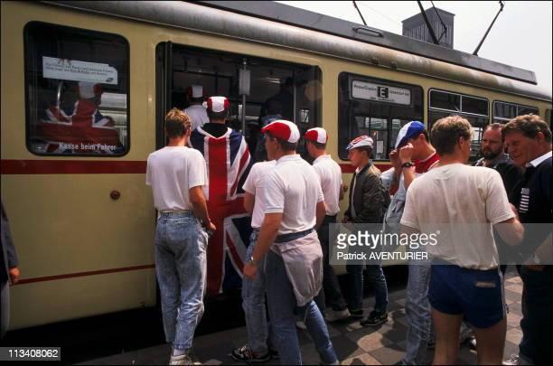 Hooligans In Dusseldorf During The Euro 88On June 15th 1988