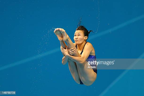 Hoong Jun Cheong of Malaysia competes in the Women's 3m Springboard Diving Preliminary Round on Day 7 of the London 2012 Olympic Games at the...
