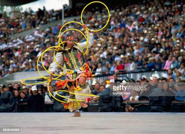 hoop dancer at calgary stampede, calgary, alberta, canada - calgary stampede stock pictures, royalty-free photos & images