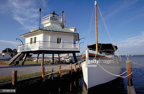 hooper strait lighthouse - chesapeake bay stock pictures, royalty-free photos & images