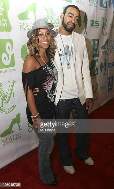 Hoopz and Jeff Blessings during Fonzworth Bentley Party at the Cabana Club in Hollywood August 20 2006 at Cabana Club in Hollywood CA United States