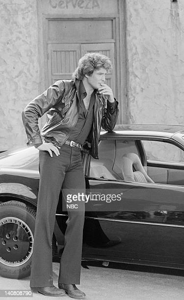 RENT STROKES Hooray for Hollywood Part 1 2 Episodes 16 17 Aired Pictured David Hasselhoff as Michael Knight Photo by Herb Ball/NBCU Photo Bank
