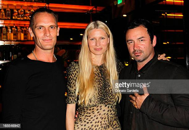 Hoorsenbuhs Coowners Kether Parker Robert Keith and Model Kirsty Hume attend Vogue's Triple Threats dinner hosted by Sally Singer and Lisa Love at...