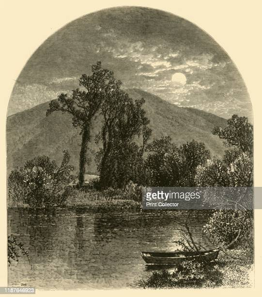 Hoosac River North Adams' 1874 Rural scene on the Hoosic River near North Adams Massachusetts USA From Picturesque America or The Land We Live In A...